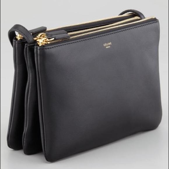 bc9b10b232f5 Celine Handbags - Authentic Celine black leather trio - small